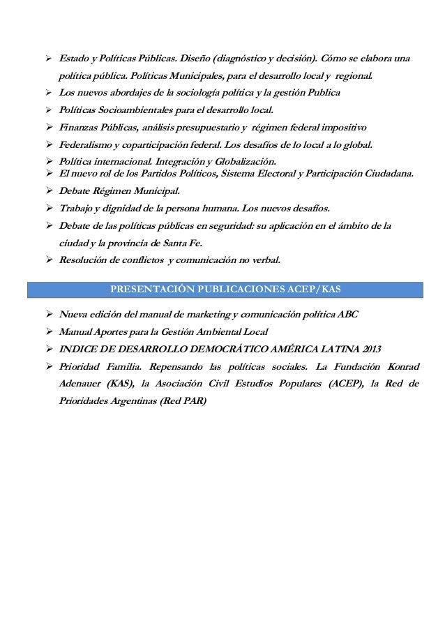  Estado y Políticas Públicas. Diseño (diagnóstico y decisión). Cómo se elabora una política pública. Políticas Municipale...