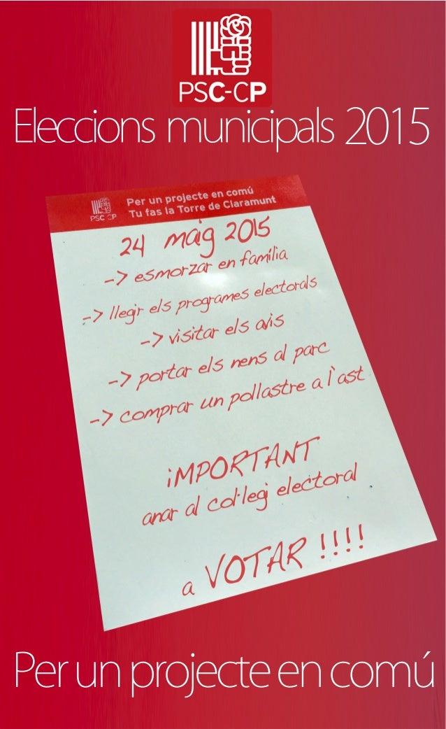 2015 Perunprojecteencomú Eleccions municipals