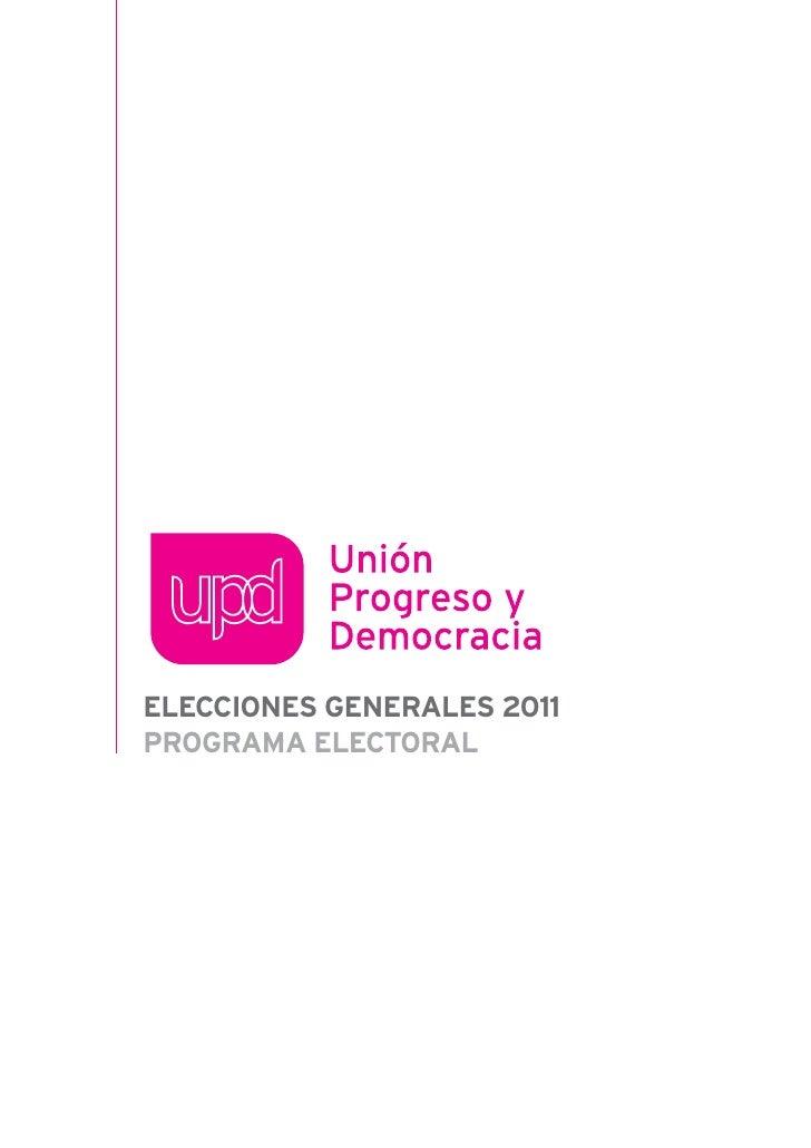 ELECCIONES GENERALES 2011PROGRAMA ELECTORAL
