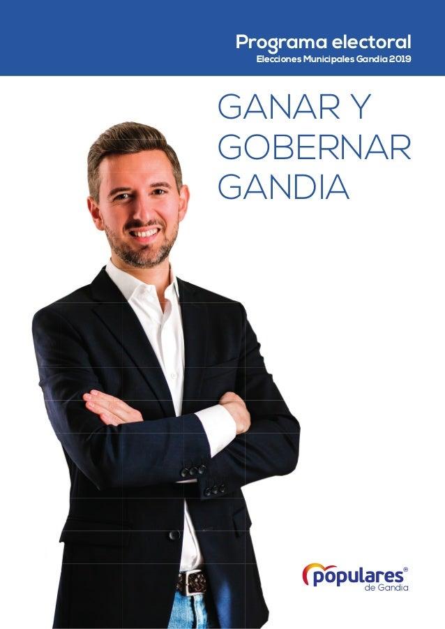 de Gandia Programa electoral Elecciones Municipales Gandia 2019 GANAR Y GOBERNAR GANDIA