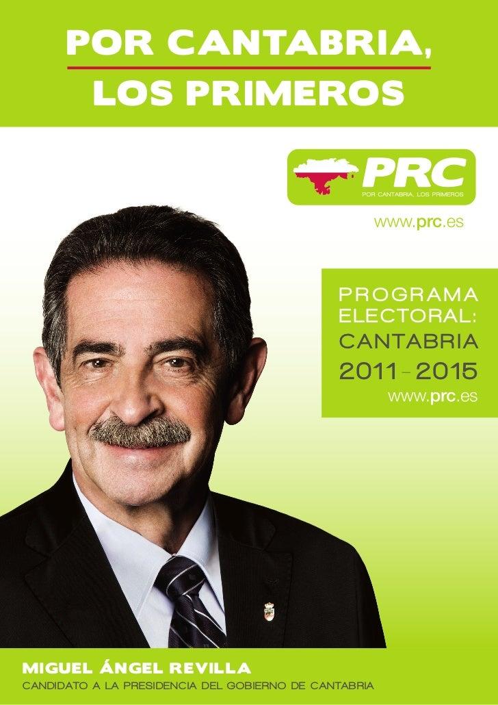 PROGRAMA                                              ELECTORAL:                                              CANTABRIA   ...