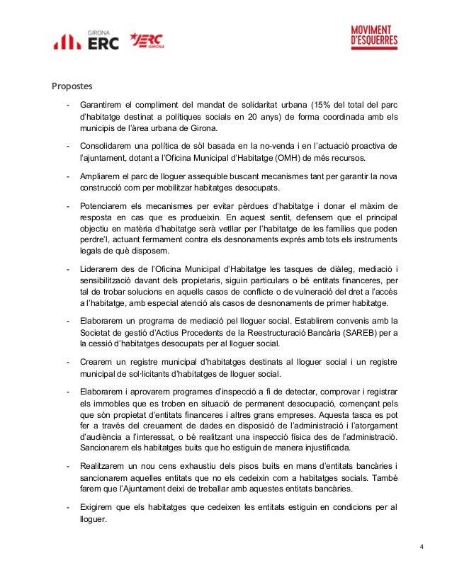 Programa Electoral Erc Mes Per Girona Municipals 2015