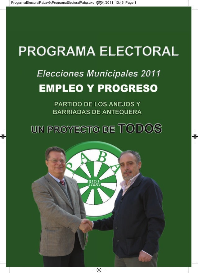 ProgramaElectoralPabav9:ProgramaElectoralPaba.qxd 07/04/2011 13:45 Page 1