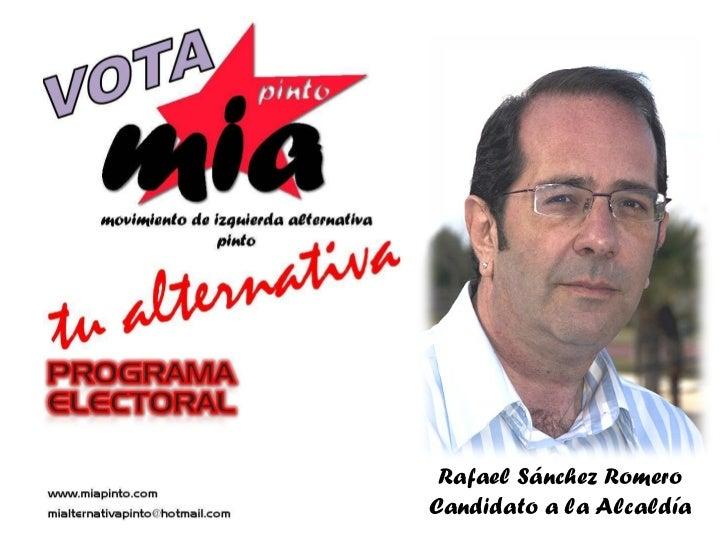 Rafael   Sánchez Romero Candidato a la Alcaldía