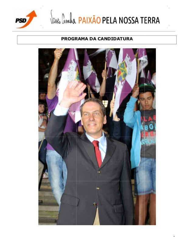 PROGRAMAPROGRAMA DA CANDIDATURA 1
