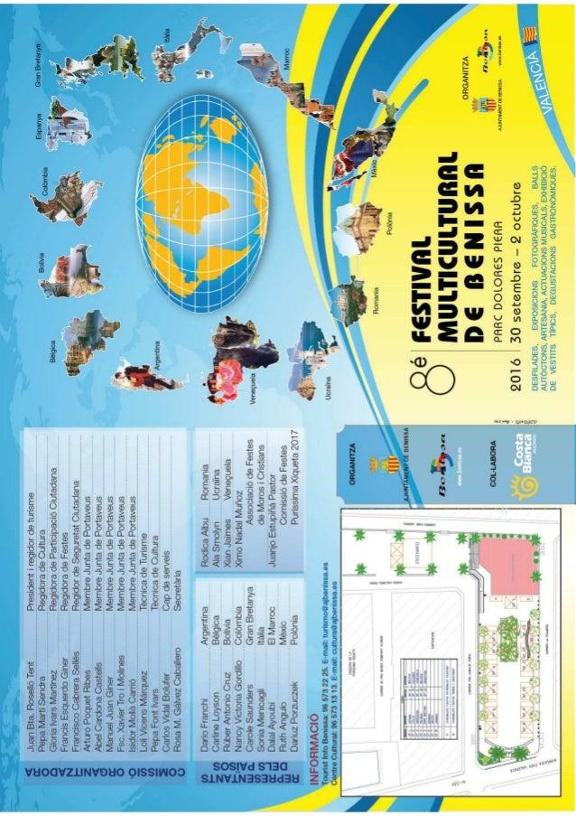 Festival Multicultural programa en valencià
