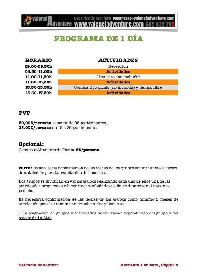 Kayak para escolares en valencia for Diferencia entre licencia de apertura y licencia de actividad