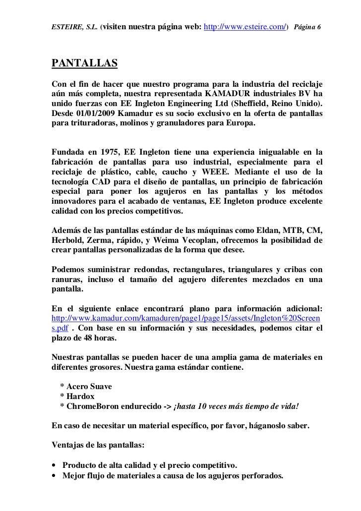 ESTEIRE, S.L. (visiten nuestra página web: http://www.esteire.com/) Página 6PANTALLASCon el fin de hacer que nuestro progr...