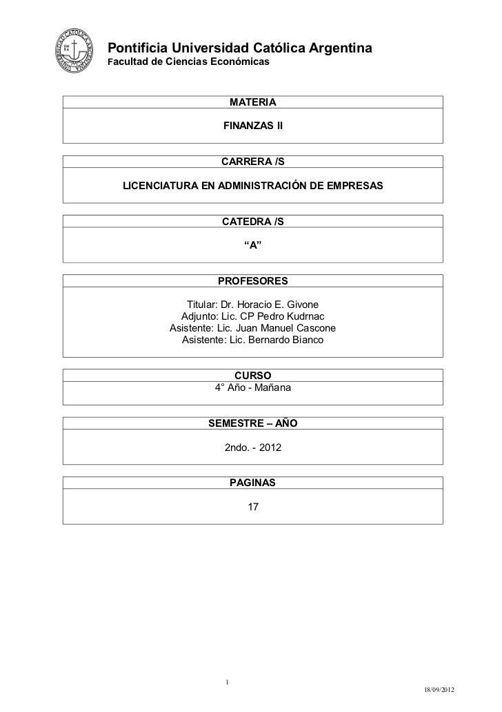 Pontificia Universidad Católica ArgentinaFacultad de Ciencias Económicas                          MATERIA                 ...
