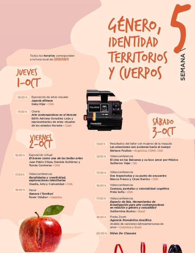 VIERNES Exposición de artes visuales Joyería efímera Gaby Híjar - Chih Charla Arte contemporáneo en el Noreste Edith Adria...