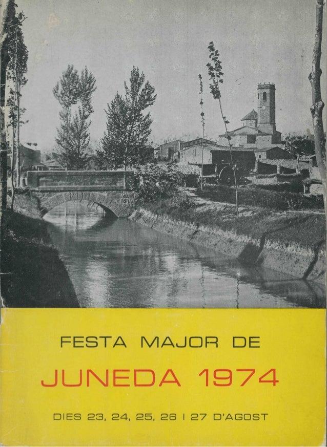 FESTA MAJOR DEJUNEDA 1974DIES 2 3 , 2 4 , 2 5 , 2 6 I 2 7 DAGOST