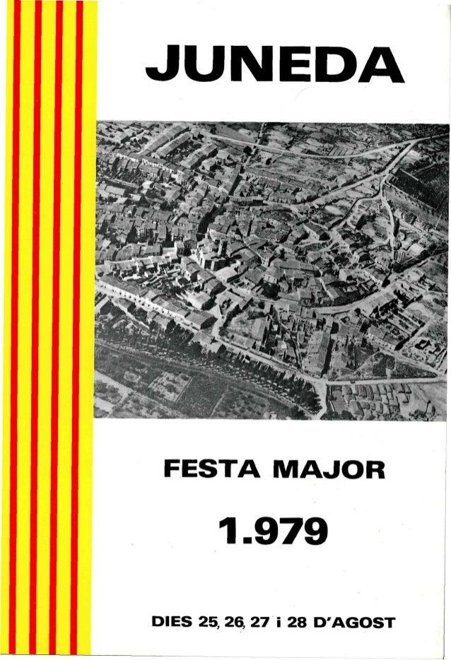 JUNEDASí i X m , i &FESTA MAJOR1-979DIES 25, 26, 27 i 28 DAGOST