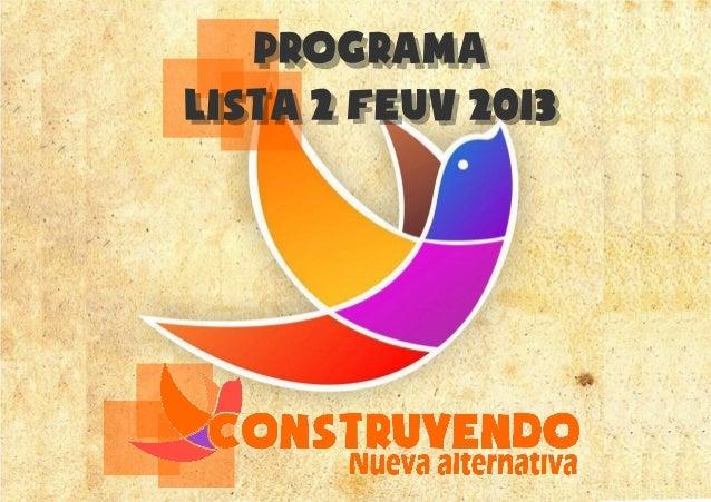 ProgramaLista 2 feuv 2013
