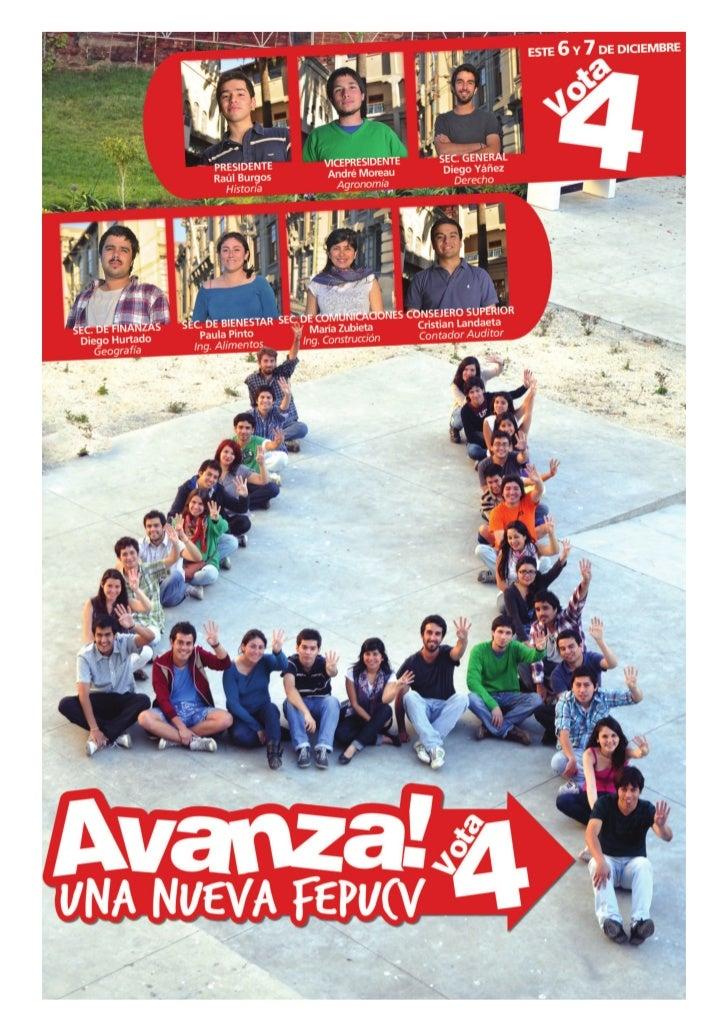 AVANZA, UNA NUEVA FEDERACIÓNSomos un equipo diverso, plural y transversalde estudiantes que creemos en unauniversidad ampl...