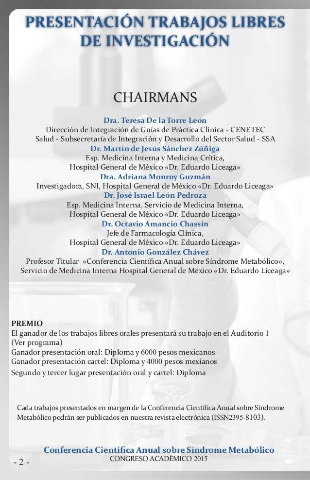 Programa presentaci n trabajos libres 2015 conferencia for Trabajo de interna en barcelona