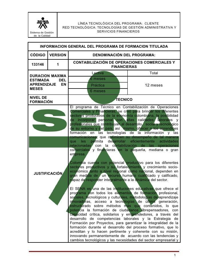 LÍNEA TECNOLÓGICA DEL PROGRAMA: CLIENTE                         RED TECNOLÓGICA: TECNOLOGÍAS DE GESTIÓN ADMINISTRATIVA YSi...
