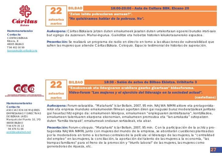 Programa foro emakunde 2012 for Oficina zuzenean bilbao