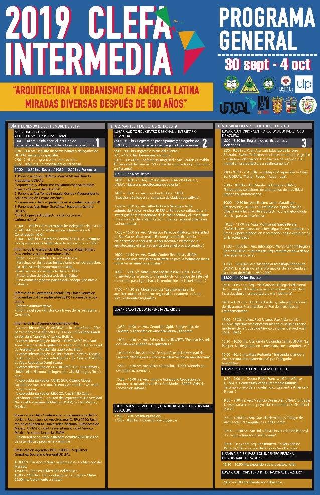 Programa General CLEFA Intermedia Panamá 2019