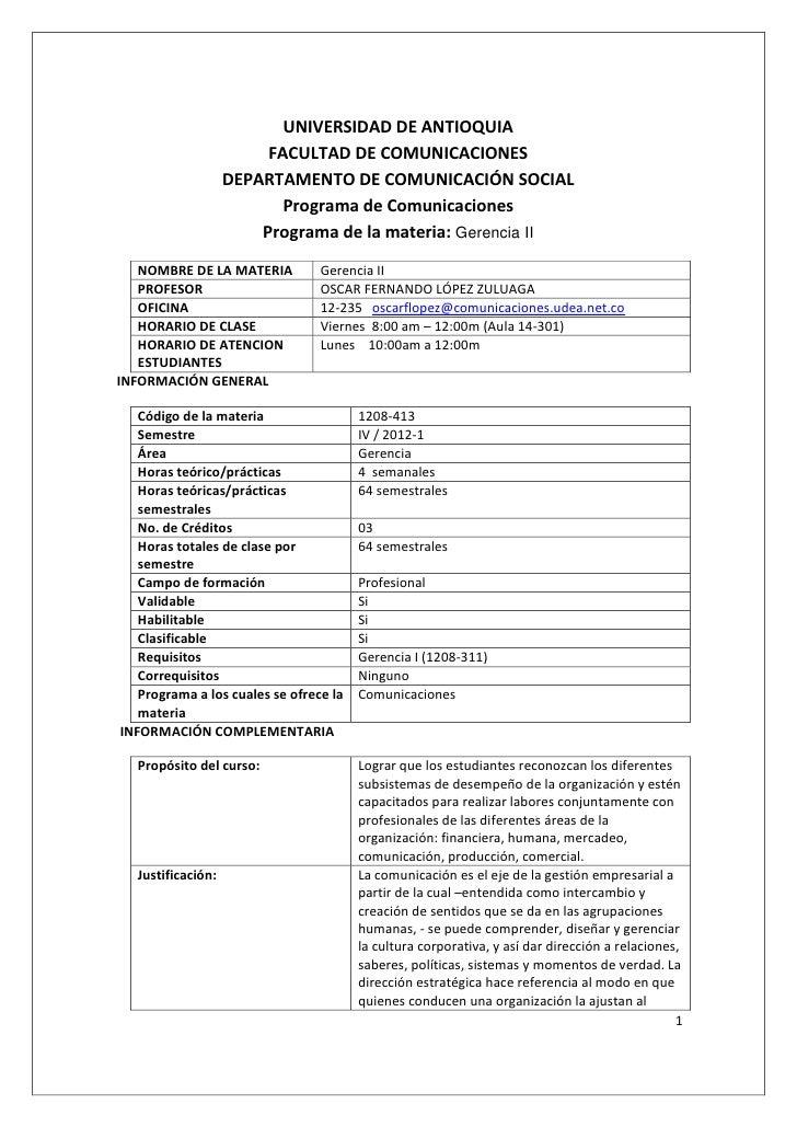 UNIVERSIDAD DE ANTIOQUIA                        FACULTAD DE COMUNICACIONES                   DEPARTAMENTO DE COMUNICACIÓN ...