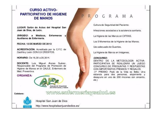 CURSO ACTIVO-     PARTICIPATIVO DE HIGIENE            DE MANOS                                                         Cul...