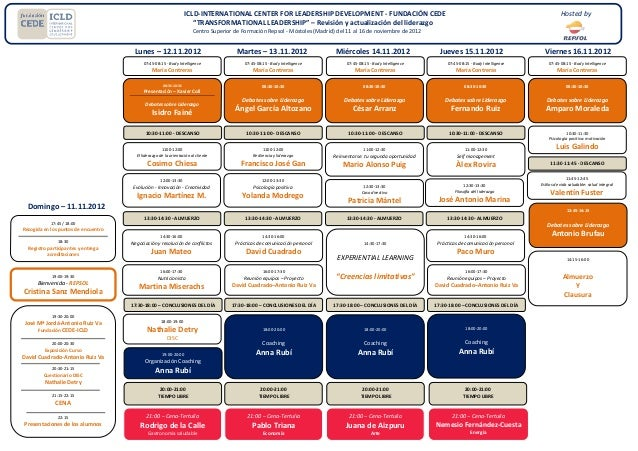 ICLD-INTERNATIONAL CENTER FOR LEADERSHIP DEVELOPMENT - FUNDACIÓN CEDE                                                     ...