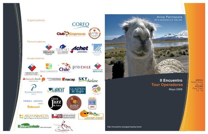 Arica Parinacota                                                               de lo ancestral a lo más alto   Organizador...
