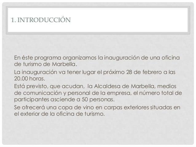 Programa inauguraci n oficina de turismo - Programas para oficina ...