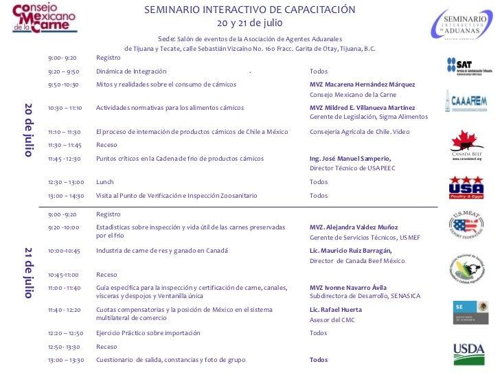 SEMINARIO INTERACTIVO DE CAPACITACIÓN                                                             20 y 21 de juli0        ...