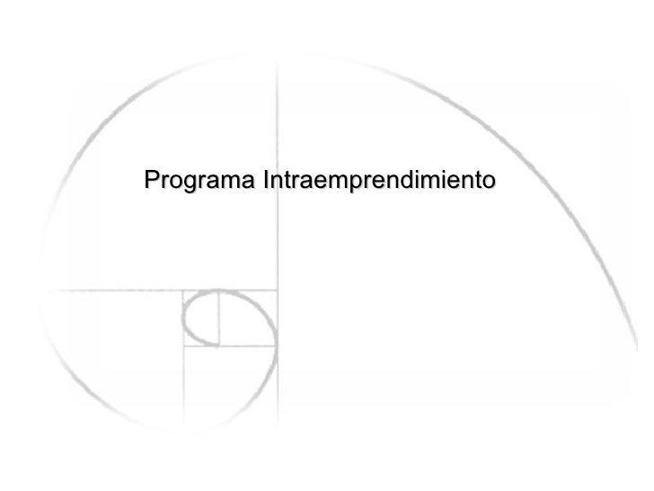 Programa Intraemprendimiento
