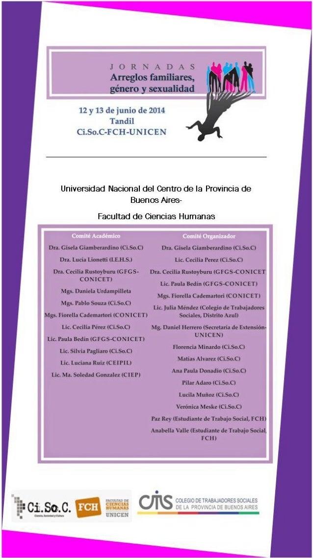 Programa Jornadas Arreglos Familiares, Género y Sexualidad