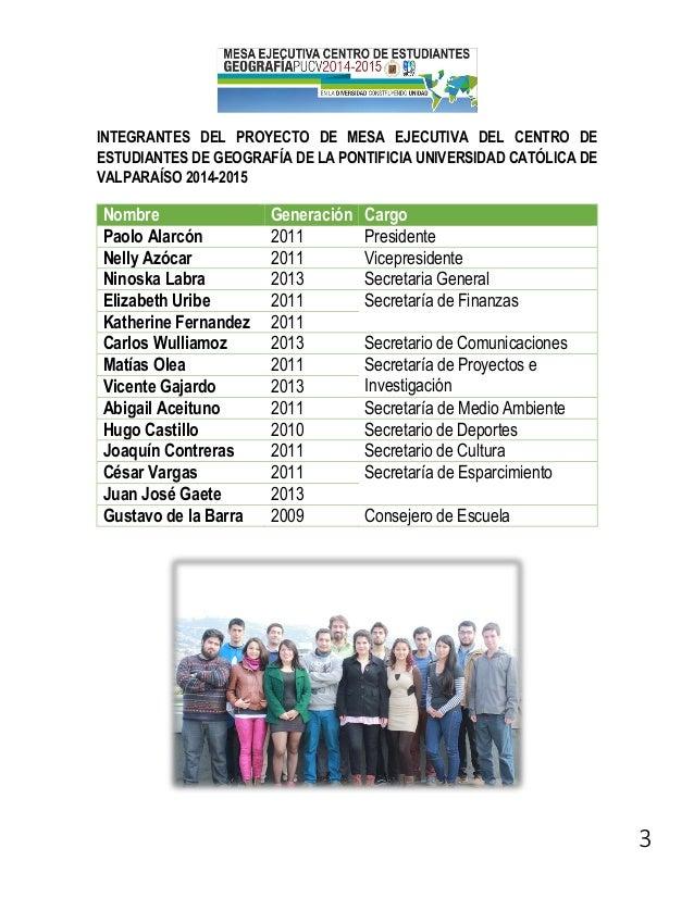 PROGRAMA LISTA B CEE GEOGRAFÍA PUCV 2014-2015 Slide 3