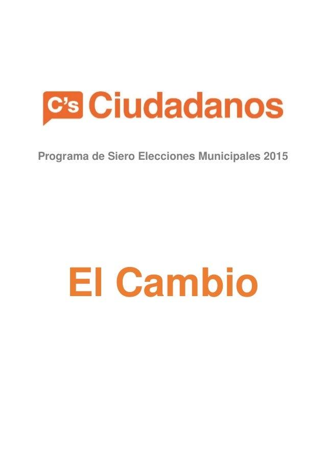Programa de Siero Elecciones Municipales 2015 El Cambio