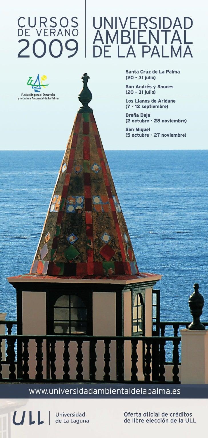 Financiación de los Cursos  Fundación para el Desarrollo y la Cultura Ambiental de La Palma (Cabildo de La Palma, Ayuntami...