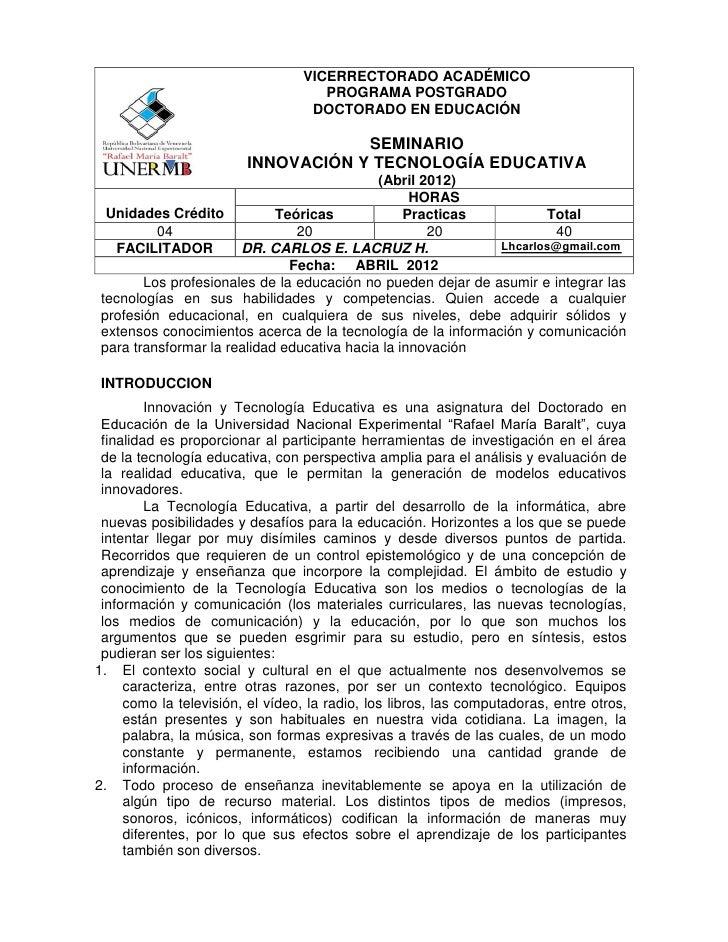 VICERRECTORADO ACADÉMICO                                     PROGRAMA POSTGRADO                                   DOCTORAD...