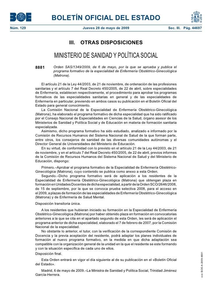 BOLETÍN OFICIAL DEL ESTADONúm. 129                                    Jueves 28 de mayo de 2009                           ...