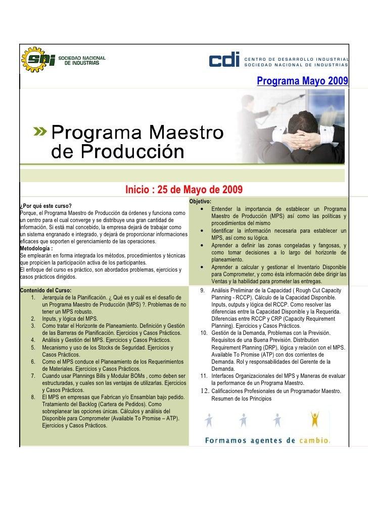 Programa Mayo 2009                                                    Inicio : 25 de Mayo de 2009                         ...