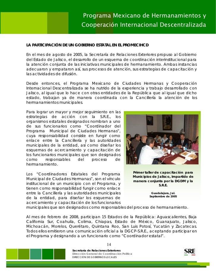 Programa Mexicano De Hermanamientos Y Cooperaci N Internacional Desce
