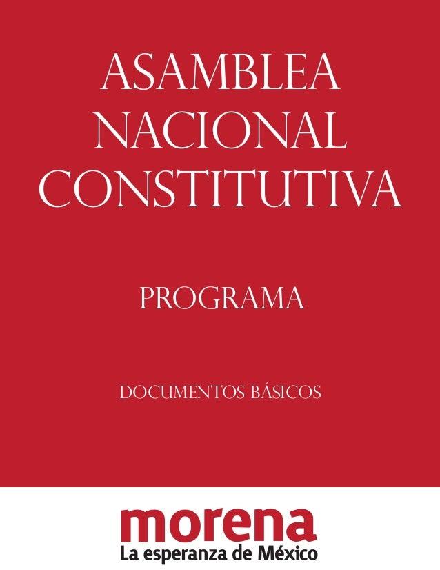 ASAMBLEA NACIONAL CONSTITUTIVA PROGRAMA DOCUMENTOS BÁSICOS
