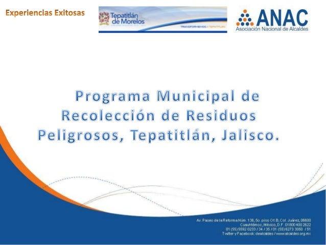 AntecedentesDe acuerdo a la Secretaria de Medio Ambientey Recursos Naturales(SEMARNAT) en el año 2010 la generación de res...