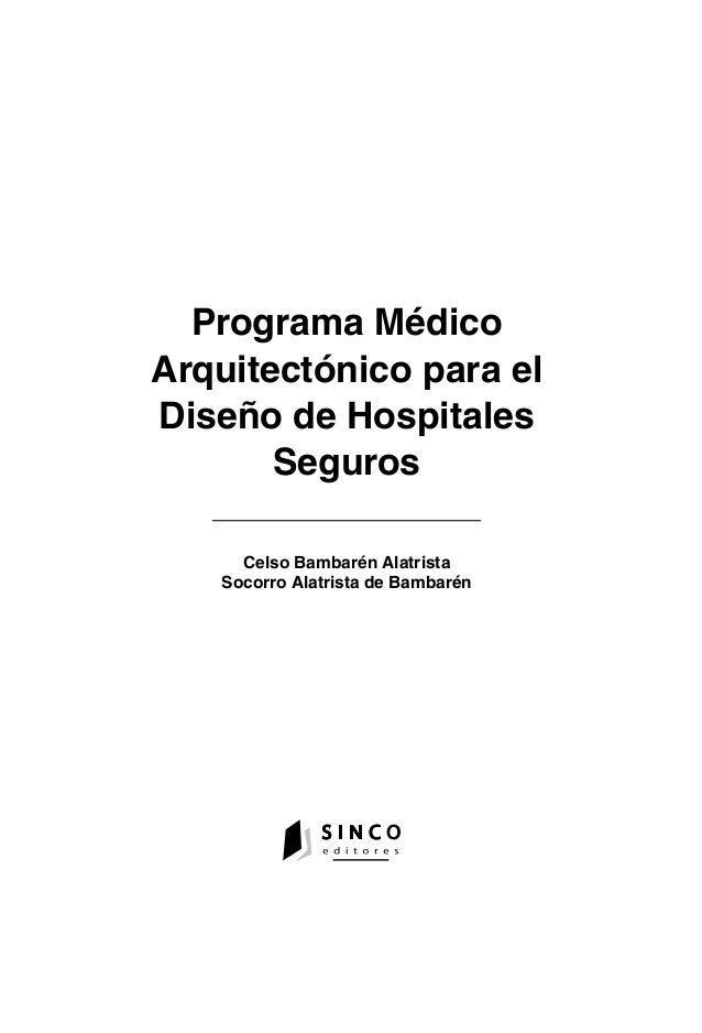 Programa mxdico arquitectonico para disexo de hospitales for Programa arquitectonico biblioteca