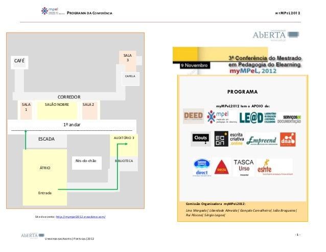 PROGRAMA DA CONFERÊNCIA                                                                             MY MP E L2012         ...