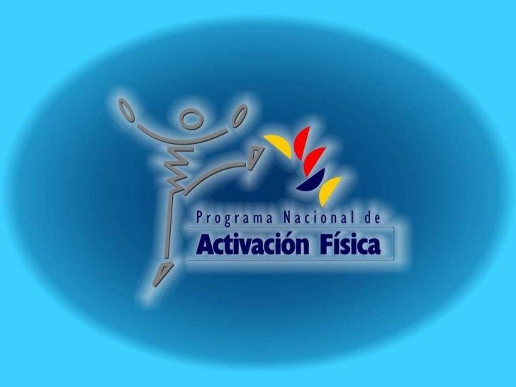 Programa nacional activacion Slide 1