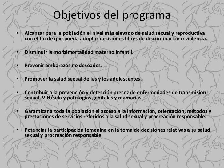 Programa nacional de salud sexualy procreacion responsable
