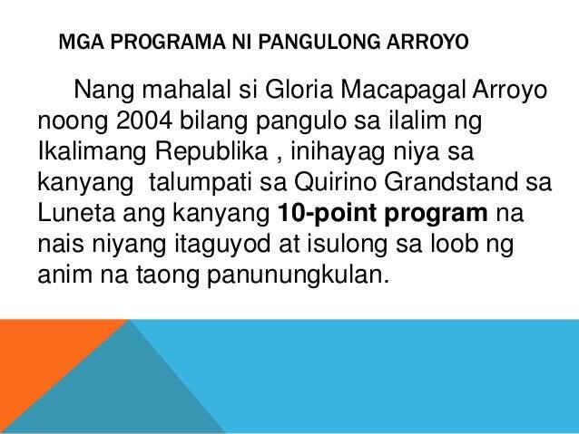 Mga nagawa ni dating pangulong gloria macapagal arroyo