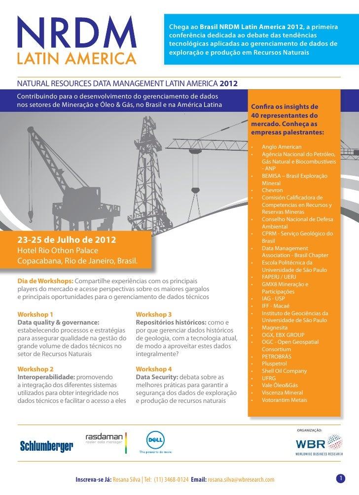 Chega ao Brasil NRDM Latin America 2012, a primeira                                                             conferênci...