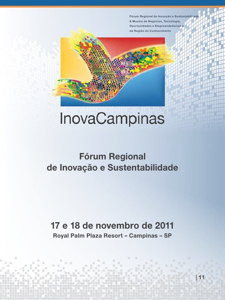 Fórum Regional de Inovação e Sustentabilidade                          & Mostra de Negócios, Tecnologia,                  ...