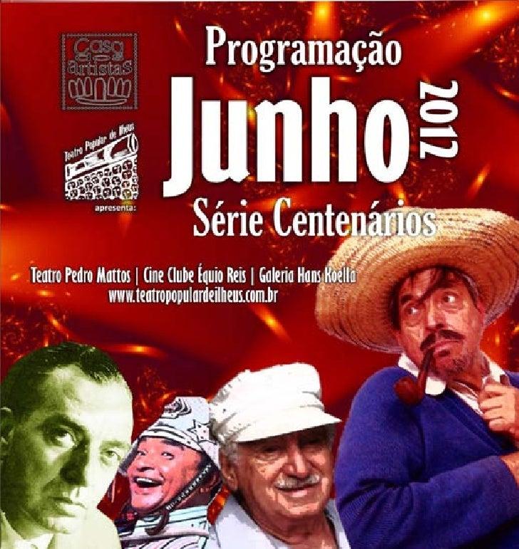 PROGRAMAÇÃO DO MÊS - JUNHO 2012