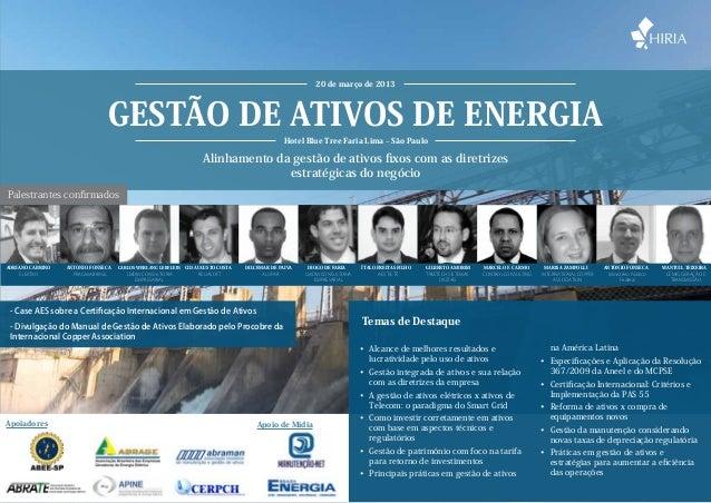 20 de março de 2013                                Gestão de Ativos de Energia                                            ...