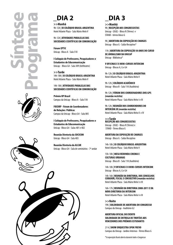 SíntesePrograma            _DIA 2                                              _DIA 3            >>Manhã                  ...