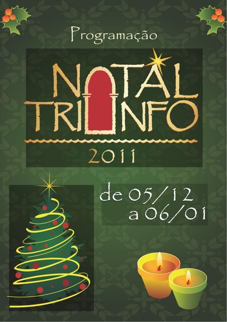 Programação natal triunfo 2011[1]